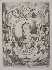 S. DELLA BELLA ´PORTRAIT VON KAISER FERDINAND II (HRR), EMPEROR´ DV/M 33, 1637