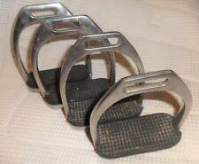 "2 Sets English/Dressage Stirrups - Stainless Steel - 4 1/4"" Size - NICE"