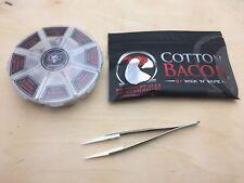 48pcs Demon Killer 8 In 1 Clapton Alien Rda Pre-Built Coil Cotton Bacon Tweezer