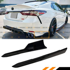 FOR 2018-2020 TOYOTA CAMRY SE XSE ART STYLE BLACK REAR BUMPER SIDE CORNER APRON