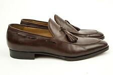 Brioni Cocoa Brown Slip-On Leather Tassel Loafers Dress Shoes 8.5 UK 9 US 42 EU