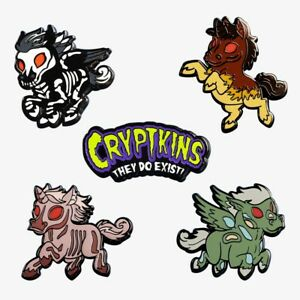 CRYPTKINS ENAMEL PINS: The Four Cryptkins of the Apocalypse - NEW