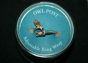 Alex And Ani HARRY POTTER OWL POST Adjustable Ring Wrap .925 Sterling Silver New