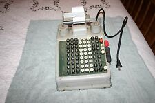 Vintage Burroughs Adding Machine - Semi Tested, Works - READ DESCRIPTION