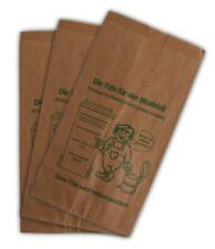 400 Bioabfalltüten 20+16x36cm braun Papier Bio Müllbeutel Biobeutel Küche Abfall
