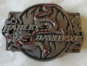 New Vintage Harley Davidson Siskiyou Belt Buckle - Dragon 1989