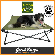 Outdoor Connection Large Canvas Camping Dog Bed Stretcher Bed with Carry Bag