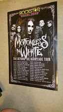 MOTIONLESS IN WHITE 2015 ROCKSTAR TOUR POSTER SIGNED AUTOGRAPHED Chris