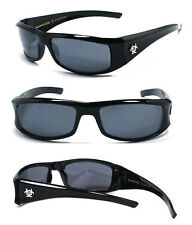 Retro BioHazard Mens Designer Sunglasses UV Protect - Black Frame BZ01