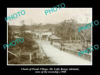 OLD LARGE HISTORIC PHOTO CHAIN OF PONDS SOUTH AUSTRALIA, VIEW OF TOWNSHIP c1900