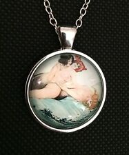 Mermaid Necklace Pendant Silver Coloured, Lovers, Lesbian Gay Homosexual Erotic