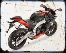 APRILIA Rs4 11 2 A4 Metal Sign moto antigua añejada De