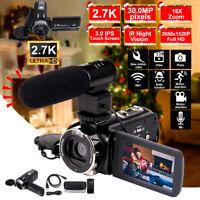 HD 1080P 30MP 16XZoom 3'' LCD Digital Camcorder Night Vision Video DV Camera Mic