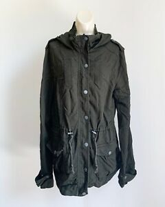 Cotton On Outerwear Women's Olive Green Hooded Jacket Size Medium
