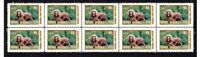 SUSSEX SPANIEL DOG STRIP OF 10 MINT VIGNETTE STAMPS #4