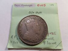 O105 British Honduras 1907 50 Cents XF Small Rim Dings