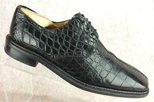 Mezlan Platinum Black Exotic Alligator Oxford Split Toe Dress Shoes Mens 12 M