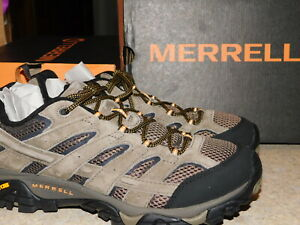 NEW MENS SIZE 11 WALNUT BROWN MERRELL MOAB 2 VENT SUEDE HIKING SNEAKERS SHOES