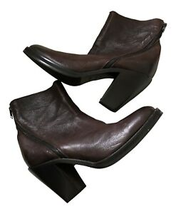 Paul Smith  Ladies Dip Dyed Leather Brown Boots  UK 5.5 EU 38