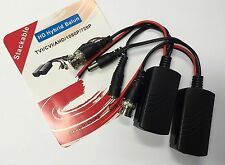 RJ45 To BNC HD Video Balun Adapter Passive Video & Power PTZ Transceiver (Pair)