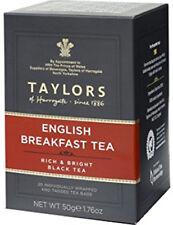 Taylors of Harrogate English Breakfast Tea - 20 Wrapped & Tagged Tea Bags