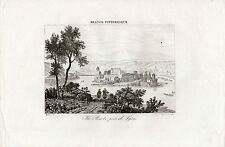 gravure XIX° siècle Ile Barbe près de Lyon France Pittoresque