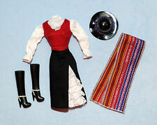 CHILE Gorgeous DOTW Authentic Style Costume Outfit Clothes BARBIE w/ Boots & Hat