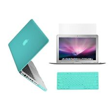 "3 in 1 Rubberized TIFANY BLUE Case for Macbook PRO 15"" + Key Cover + LCD Screen"