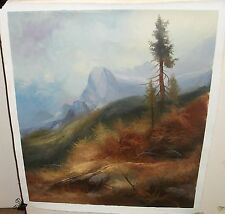 JOSEF KUGLER MOUNTAIN LANDSCAPE OIL CANVAS PAINTING