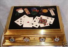 MAGNIFICENT  UNIQUE 1900 FRENCH DORE BRONZE MARBLE POKER CHIPS BOX