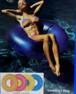 """Sevylor 42"""" Pink Red Inflatable Floating Ring Float Pool Raft Tube Swimming Lake"""