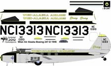 Wien Alaska Airlines Boeing 247 decals 4 Williams Brothers 1/72 scale