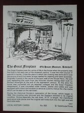 POSTCARD DERBYSHIRE BAKEWELL THE GREAT FIREPLACE LOCAL HISTORY CARD