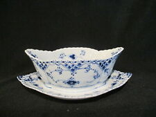 Royal Copenhagen - BLUE FLUTED FULL LACE - Gravy Boat and Fixed Stand