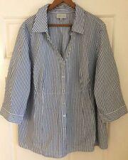 Cotton Blend V-Neckline 3/4 Sleeve Tops & Blouses for Women