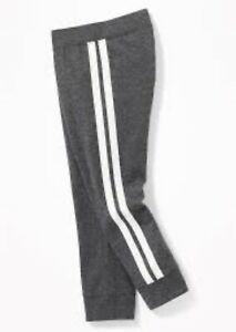 Old Navy Toddler Unisex Gray Stripe Jersey Joggers Size 2T