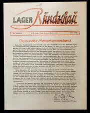 WW2 German POW PRISONER OF WAR Fort CAMP CARSON Newspaper EL PASO COLORADO