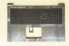 Nordic Swedish Norwegian For ASUS ROG G501JW Keyboard with palmrest Red Backlit