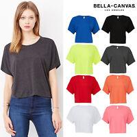Bella + Canvas Women Flowy Boxy T-Shirt 8881-Ladies Crew Neck Cropped Summer Top