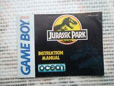 Notice Game Boy / Jurassic Park  manuel Booklet *