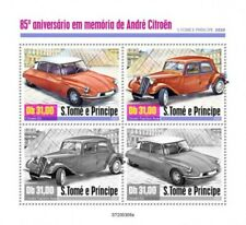 St Thomas - 2020 Andre Citroen Automobile - 4 Briefmarke Blatt - ST200308a