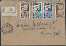 1951 Italia Rep. Ginnici+It. Lavoro busta a/r Roma Cat Sass 661/63+646 € 3250,00