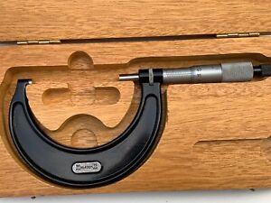 Vintage L.S Starrett Micrometer No.436M 50-75mm Original Starrett Box
