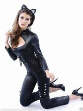 SEXY PVC LOOK 2 PCS CATWOMAN FETISH WEAR GOTHIC JUMPSUIT FANCY DRESS OUTFIT 8-12