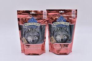LOT OF 2 Blue Buffalo Wilderness Grain Free Biscuit Treats, Salmon, EXP: 04/22