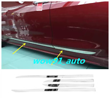 New for Nissan Maxima 2016 2017 Stainless Steel Body Side Door Molding Trim