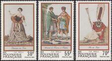 Polinesia Francesa 1985 trajes tradicionales/Ropa/Vestido/personas 3 V Set (n45313s)