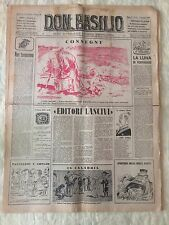 Don Basilio n.1 - 1 gennaio 1950 settimanale satirico d'opposizione