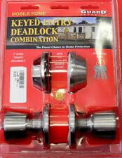 Mobile Home Entrance Door Lock W/Deadbolt Keyed alike Stainless Steel New 4 keys