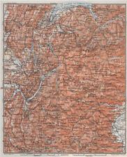 Alpes françaises. haute-savoie haute-alpes isère savoie topo-map carte 1907 old